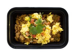Meal Proz spice turkey and egg bowl